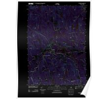 USGS TOPO Map New Hampshire NH Henniker 20120608 TM Inverted Poster