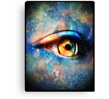 Through the Time Travelers Eye Canvas Print