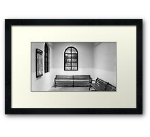 Christmas Snow from Railroad Station Framed Print
