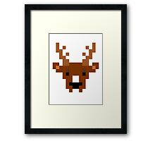 8-Bit Buck Framed Print