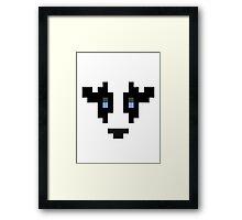 8-Bit Cow Framed Print