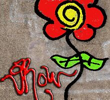 #Graffiti - Colored Rose by photoartful