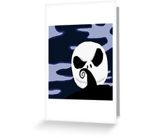 nightmare before christmas jack moon  Greeting Card