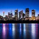 Sydney City Lights by Liz Percival