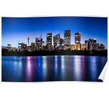 Sydney City Lights Poster