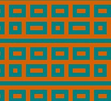 Complementary colors teal blue orange  by aapshop