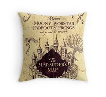 Harry potter The Marauders Map Throw Pillow