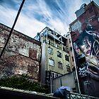 Street art on Tattersalls Lane by Daniel Fisher
