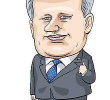 Stephen Harper by MacKaycartoons