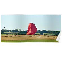 Virgin Balloon Landing Oxfordshire Poster