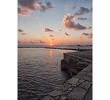 Sunset and rocks Photographic Print