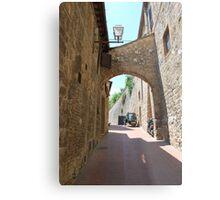Streetscape, San Gimignano Metal Print