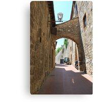 Streetscape, San Gimignano Canvas Print