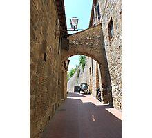 Streetscape, San Gimignano Photographic Print