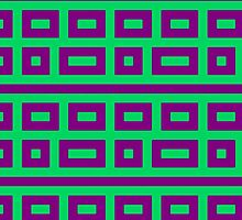 Complementary colors teal magenta green by aapshop