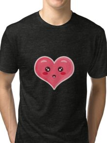 Kawaii Heart Tri-blend T-Shirt