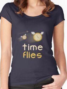 Time Flies shirt  Women's Fitted Scoop T-Shirt