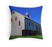 White And Red Barn Throw Pillow