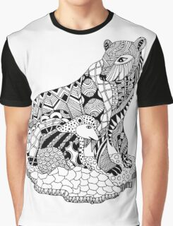 Polar Bear with Cub Drawing Graphic T-Shirt