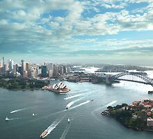 Sydney Harbour Aerial View by celsydney