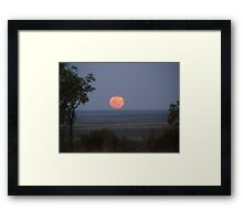 Outback moon rise Framed Print