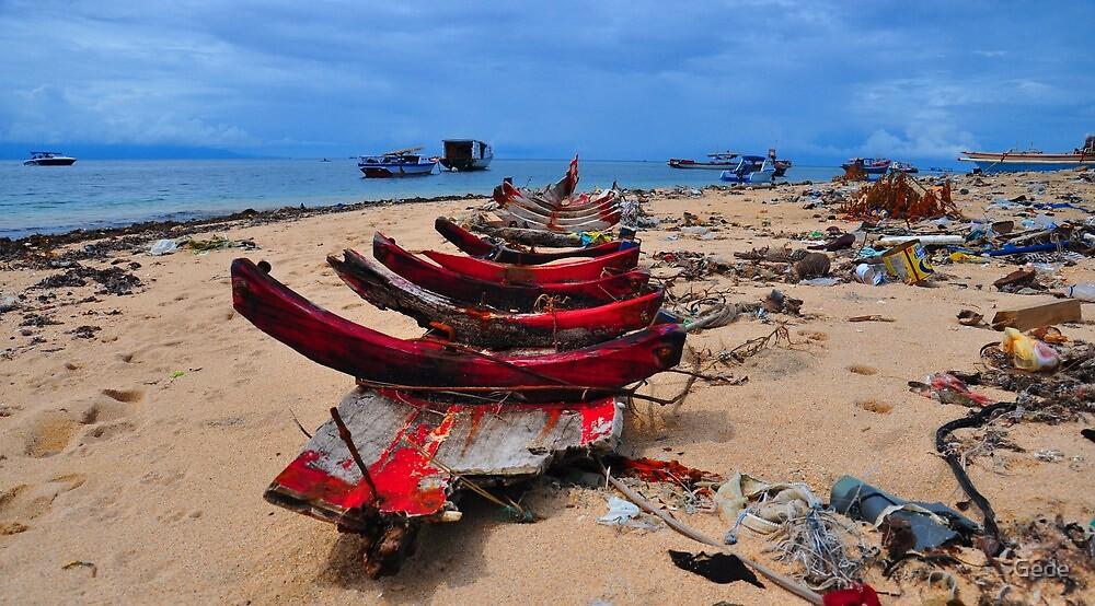 destruction of the boat. by Gede