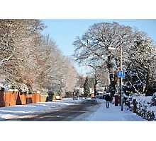 Village in the snow Photographic Print
