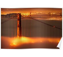 Golden Gate on fire Poster