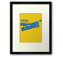 """""""Definitely Scissory"""" Framed Print"""
