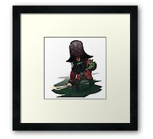 Zombie Pirate LeChuck Framed Print