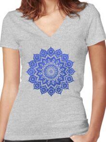 okshirahm sky mandala Women's Fitted V-Neck T-Shirt