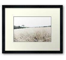 Photographic Sketch of a Winter Landscape Framed Print