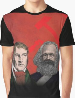 HEGEL AND MARX, communist philosophers Graphic T-Shirt