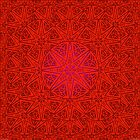 rashim red lace mandala by peter barreda