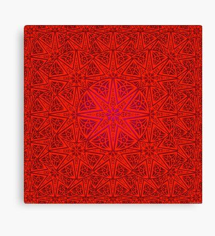 rashim red lace mandala Canvas Print
