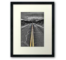 Dark Road Framed Print