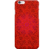 rashim red lace mandala iPhone Case/Skin