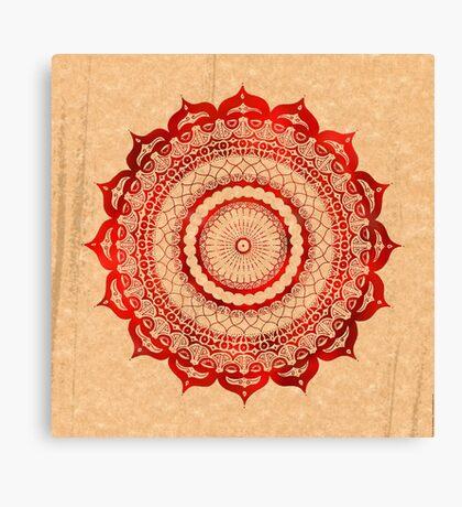 omulyana red mandala Canvas Print