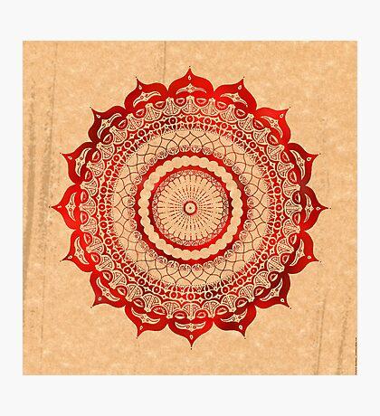 omulyana red mandala Photographic Print