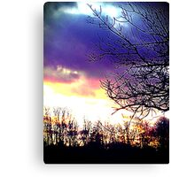 Colorful Sunset Canvas Print