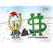 Bucky Euroman and the Xmas coals cartoon Poster