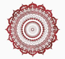 omulyana red mandala Kids Tee