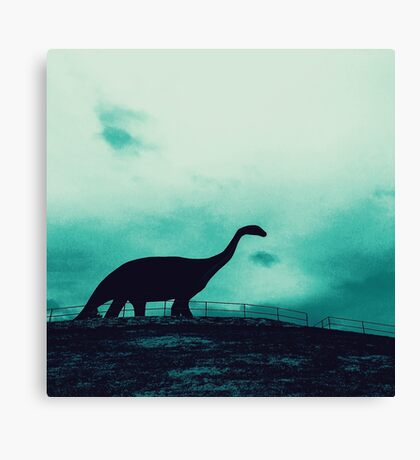 Lonely Dinosaur Canvas Print