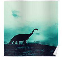Lonely Dinosaur Poster