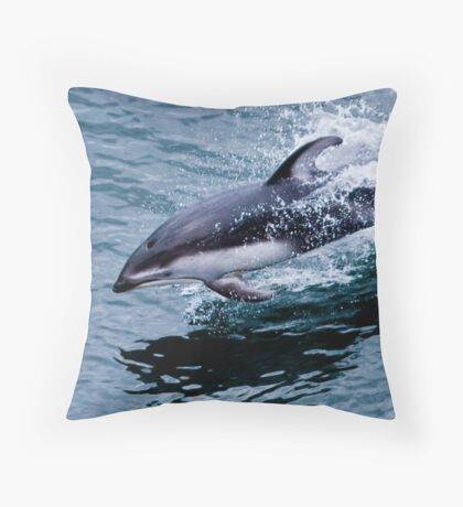 Pacific White-sided Dolphin Throw Pillow