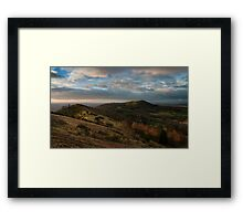 First light hits Hereford Beacon Framed Print