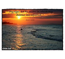 My Eyes Are An Ocean Photographic Print