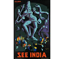 Vintage poster - India Photographic Print