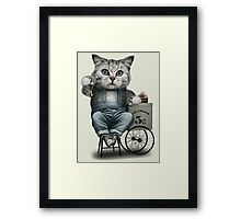 ICE CREAM SELLER Framed Print