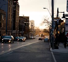 Parkdale In The Fading Light At Queen & Roncesvalles by Gary Chapple